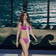 Lara Debbane défile à la U.S. Century Bank Arena, à Miami, Floride, le 21 janvier 2015 pour Miss Univers 2015