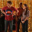 Blake Jenner, Melissa Benoist et Jacob Artist dans un extrait d'un épisode de la 4e saison de Glee.