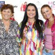 Maria Dolores, Elma Aveiro et  Liliana Cátia Ronaldo, aka Katia, soeur de Cristiano Ronaldo, lors de la présentation de son dernier single à Madrid le 18 septembre 2013