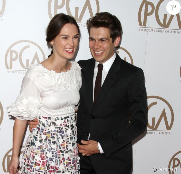 "Keira Knightley, James Righton à la 26ème soirée annuelle de ""Producers Guild Of America Awards"" à Century City, le 24 janvier 2015"