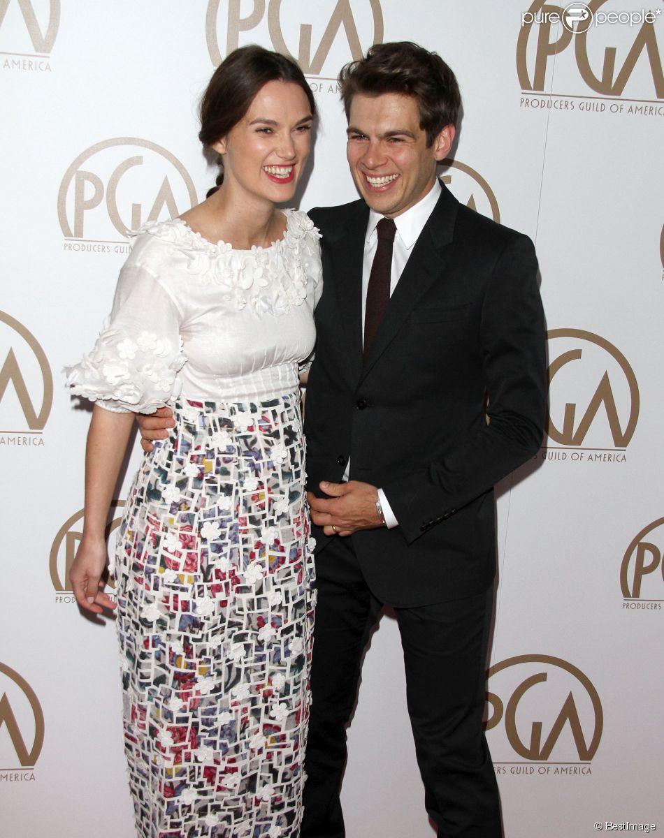 """Keira Knightley, James Righton à la 26ème soirée annuelle de """"Producers Guild Of America Awards"""" à Century City, le 24 janvier 2015"""