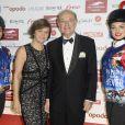 Bertrand Bélinguier (président de France Galop) et sa femme assistent à la soirée de Gala du Prix d'Amérique Opodo à la Maison de l'UNESCO à Paris le 24 janvier 2015.