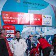 Le prince Albert II de Monaco lors de la 10e Monaco Historic Bob Race à Saint-Moritz le 23 janvier 2015