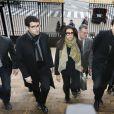 Francoise Bettencourt-Meyers et ses fils, Nicolas et Jean-Victor Meyers - Troisième jour du procès Bettencourt au tribunal de Bordeaux, le 26 janvier 2015.