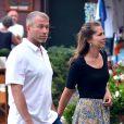 Roman Abramovitch et sa belle Dasha Zhukova en vacances à Portofino en Italie le 2 septembre 2013.