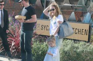 Drew Barrymore : Matinée détente avec son mari et leur adorable fille, Olive