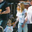 Exclusif - Drew Barrymore et la petite Olive quittent le restaurant The Sycamore Kitchen à Los Angeles. Le 23 janvier 2015.