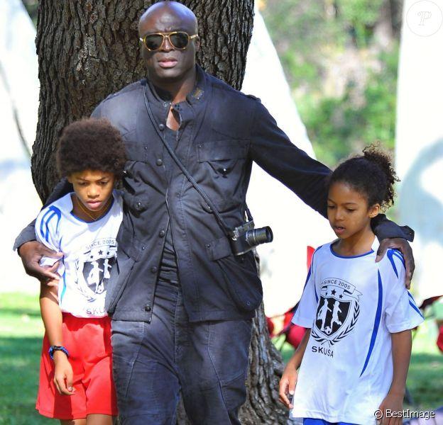 Le chanteur Seal assiste au match de football de ses enfants Leni, Henry et Johan à Los Angeles Le 31 Janvier 2015