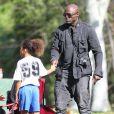 Seal assiste au match de foot de ses enfants Leni, Henry et Johan à Los Angeles Le 31 Janvier 2015