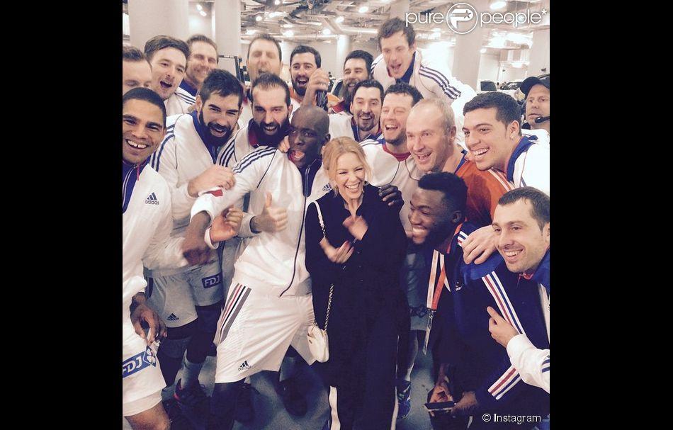 Kylie minogue c l bre la coupe du monde de hand remport e - Diffusion coupe du monde de handball 2015 ...