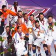 Les Bleus fêtent la victoire en Coupe du monde de handball le 1er février 2015 à Doha.
