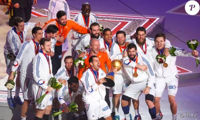 Les bleus f tent la victoire en coupe du monde de handball le 1er f vrier 2015 doha - Calendrier coupe du monde de handball 2015 ...