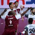 Nikola Karabatic pendant la finale de la Coupe du monde de handball le 1er février 2015 à Doha.