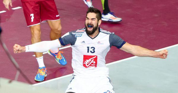 Nikola karabatic f te la victoire en coupe du monde de handball le 1er f vrier 2015 doha - Calendrier coupe du monde de handball 2015 ...