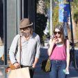 Lukas Haas accompagné et méconnaissable à Venice, Los Angeles, le 1er février 2015.