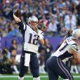 Tom Brady lors de la victoire des New England Patriots au Super Bowl le 1er février 2015 à Glendale