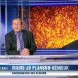 Jean-Pierre Pernaut souhaite un joyeux anniversaire à sa mère pour ses 100 ans. JT de TF1, le 5 février 2015.