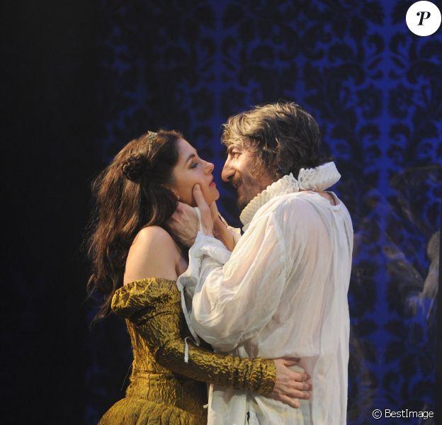 """Cristiana Reali, Jean Philippe Ricci - Filage de la piece """"Marie Tudor"""" au Théâtre la Pépinière à Paris, le 30 janvier 2015"""