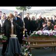 Roger Hanin et Danièle Mitterand aux obsèques de Christine Gouze-Rénal à Cluny le 30 octobre 20002.