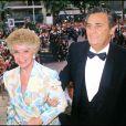 Roger Hanin et sa femme Christine Gouze-Renal en 1986 à Cannes.
