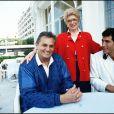 Roger Hanin et sa femme Christine Gouze-Renal à Cannes en 1988 à Cannes.