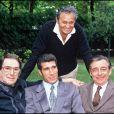 Robert Hossein, Karim Alaoui, Roger Hanin et François Périer le 29 juillet 1988.