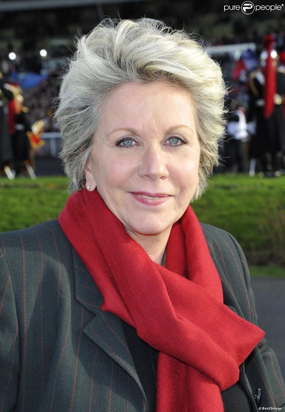 Françoise Laborde - 92eme Grand Prix d'Amérique à L'Hippodrome de Vincennes à Paris. Le 27 janvier 2013.