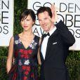 Benedict Cumberbatch et sa fiancée Sophie Hunter enceinte - La 72ème cérémonie annuelle des Golden Globe Awards à Beverly Hills, le 11 janvier 2015.
