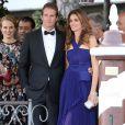 Cindy Crawford, Rande Gerber - George Clooney et ses invités se rendent à son mariage avec Amal Alamuddin à Venise, le 27 septembre 2014.