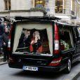 Obsèques de Corinne Le Poulain en l'église Saint-Roch à Paris, le 16 février 2015.