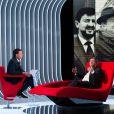 Exclusif - Enregistrement de l'émission  Le Divan  présentée par Marc-Olivier Fogiel, avec Jean-Luc Mélenchon en invité, le 13 février 2015.