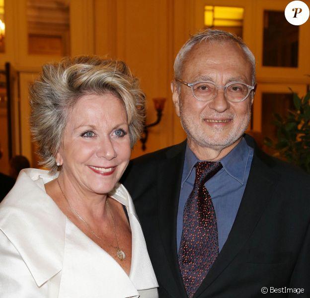 Francoise Laborde et son mari Jean-Claude Paris - 27eme Gala de l'aide a l'enfant refugie a Paris le 24 Septembre 2012