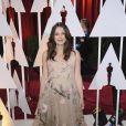 Keira Knightley enceinte (dans une robe Valentino Couture) - 87e cérémonie des Oscars à Los Angeles le 22 février 2015