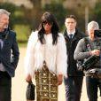 Naomi Campbell arrive aux Kensington Gardens pour assister au défilé Burberry Prorsum automne-hiver 2015-2016. Londres, le 23 février 2015.