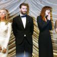Sam Taylor-Johnson, Jamie Dornan, Dakota Johnson et E. L. James à la Berlinale 2015.