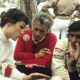Gerard Ducarouge entre Andrea de Cesaris et Bruno Giacomelli au prix de Monaco, le 23 mai 1982