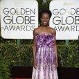 Lupita Nyong'o à La 72ème cérémonie annuelle des Golden Globe Awards à Beverly Hills, le 11 janvier 2015.