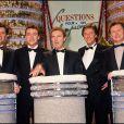Archives - Patrick Chêne, Pascal Brunner, Julien Lepers, Henri Sannier et Laurent Broomhead -  Questions pour un champion  en 1997.
