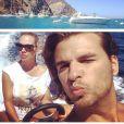 Romain Rey-Chavent et son épouse Zsanett : virée sur un bateau