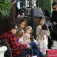 Please hide the children's faces prior to the publication. Jessica Alba and Cash Warren enjoy a fun-filled weekend shopping with their girls at The Grove in Los Angeles, CA, USA on February 28, 2015. Jessica and Cash took Honor and Haven to go doll shopping at American Girl and grabbed an early dinner afterwards. Photo by GSI/ABACAPRESS.COM01/03/2015 - Los Angeles