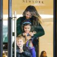 Exclusive - Please hide the children's faces prior to the publication. Actress Jessica Alba and husband Cash Warren took their daughters Honor and Haven to Barneys New York this afternoon for some shopping in Beverly Hills, Los Angeles, CA, USA on March 1, 2015. Photo by GSI/ABACAPRESS.COM02/03/2015 - Los Angeles