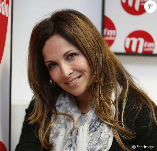 """Exclusif - Hélène Ségara - Hélène Ségara, présente son nouvel album """"Tout commence aujourd'hui"""" lors de l'émission de Bernard Montiel """"M comme Montiel"""" à la station radio MFM à Paris, le 5 mars 2015"""