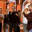 Amel Bent, Michaël Youn, Lorie, Christophe Willem et M. Pokora - Dans les coulisses des préparations du spectacle des Enfoirés 2015. Le concert sera diffusé le vendredi 13 mars à 20h55 sur TF1. Emission  50 mn inside , diffusée le 8 mars 2015 sur TF1.