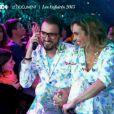 Christophe Willem et Claire Keim - Dans les coulisses des préparations du spectacle des Enfoirés 2015. Le concert sera diffusé le vendredi 13 mars à 20h55 sur TF1. Emission  50 mn inside , diffusée le 8 mars 2015 sur TF1.
