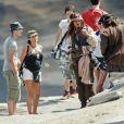 Johnny Depp sur le tournage de Pirates des Caraïbes 4 à Maui, le 26 juillet 2010.