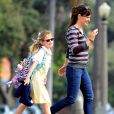 Jennifer Garner se promène avec sa fille Violet à Santa Monica, le 10 mars 2015.