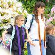 Jennifer Garner emmène ses filles Violet et Seraphina à leur cours de karaté à Brentwood, le 11 mars 2015.
