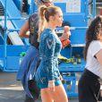 Jennifer Lopez looks sur le tournage de l'émission American Idol à West Hollywood, Los Angeles, le 19 mars 2015