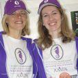 """""""Exclusif - Kate Williams et Laura Bouganne mobilisées le 20 mars 2015 pour l'AMPA (Association Monégasque pour la recherche sur la maladie d'Alzheimer) à la veille de leur départ pour le 25e Rallye Aïcha des Gazelles"""""""