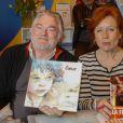 Christian Rauth, Eva Darlan - Salon du livre à la porte de Versailles à Paris le 22 mars 2015